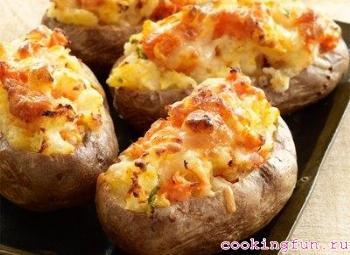 kartofel s sirom i chesnokom 0512 Картофель с сыром и чесноком