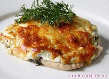 maso s gribami i sirom 1409 Мясо с грибами и сыром