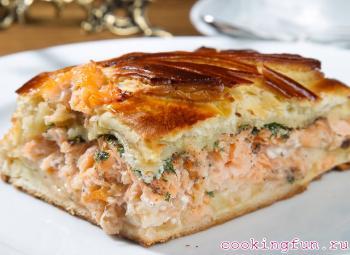 pirog s riboi i risom 0801 Пирог с рыбой и рисом