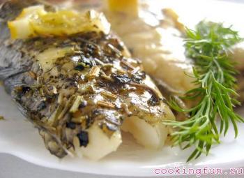 riba zapechenay v rukave 2810 Рыба запеченная в рукаве
