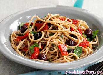 spaghetti s sirom i pomidorami 2604 Спагетти с сыром и помидорам