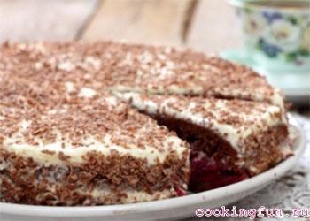 торт черный принц рецепт со сметаной