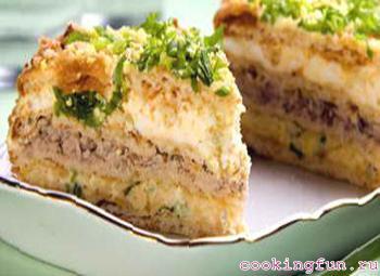 zakusochnii topt s riboi i sirom 3103 Закусочный торт с рыбой и сыром