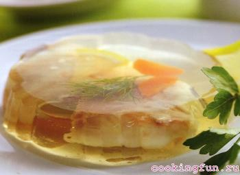 zalivnoe iz sudaka s krevetkami 1710 Заливное из судака с креветками