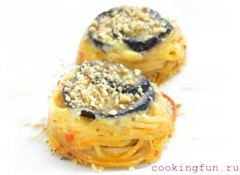 zapekanka iz spagetti s baklaganami tambalini 0212 Запеканка из спагетти с баклажанами Тамбаллини